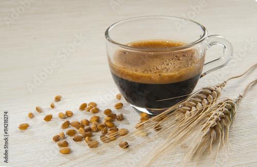 Stickers pour porte Café en grains Caffè d'orzo e spighe