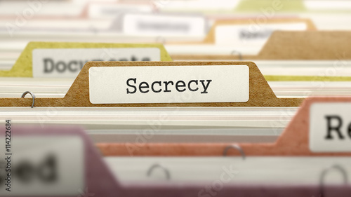 Secrecy Concept on File Label in Multicolor Card Index Canvas Print