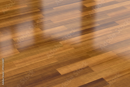 Fotografie, Obraz  Dark wood parquet floor, background