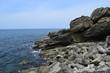 庄内海岸の岩場風景 / 山形県で庄内海岸の岩場風景を撮影した写真です。庄内海岸は非常にきれいな白砂と奇岩怪石の磯が続く、素晴らしい景観のリゾート地です。日本海トップランクのリゾート地として、五感の全てを満たす多くの魅力にあふれたエリアです。
