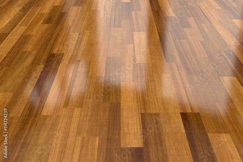 Obraz Dark wood parquet floor, background - fototapety do salonu