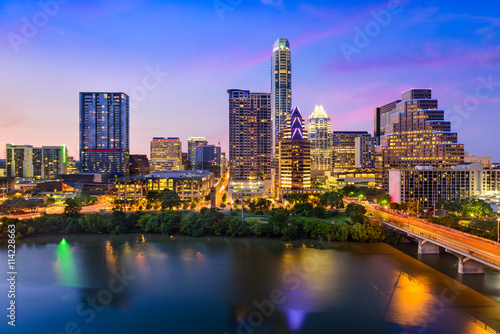 In de dag Texas Austin Texas Skyline