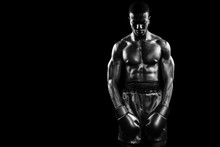 Composite Image Of Boxer Posin...