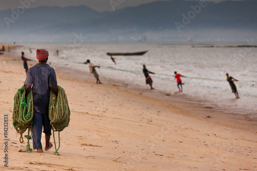 Staande foto Afrika Sierra Leone, West Africa, the beaches of Yongoro