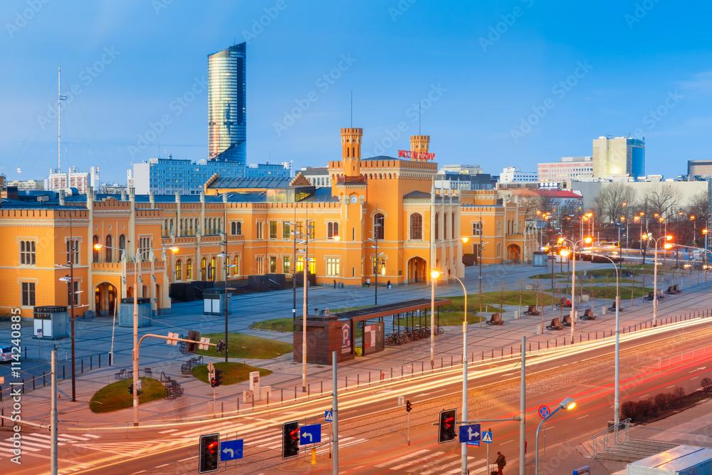 Fototapety, obrazy: Główny dworzec kolejowy we Wrocławiu