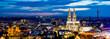 canvas print picture - Köln Panorama bei Nacht