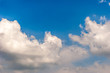 Natural background . Blue sky with white clouds and sunny day