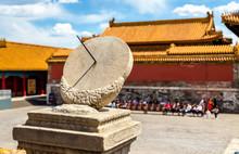 Ancient Sundial In The Forbidden City - Beijing
