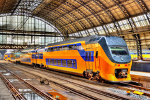 Train At Amsterdam Centraal St...