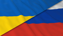Flags Of Ukraine And Russia - ...