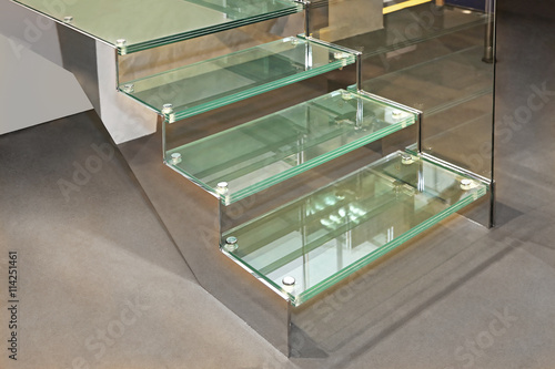 Foto op Canvas Trappen Glass Stairs