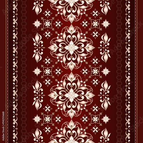 dekoracyjna-bezszwowa-ozdobna-granica-na-ciemnym-czerwonym-tle