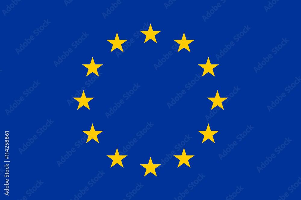 Fototapeta Flag of Europe, European Union