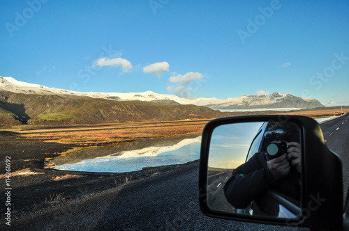 Staande foto Scandinavië Photographing on the road