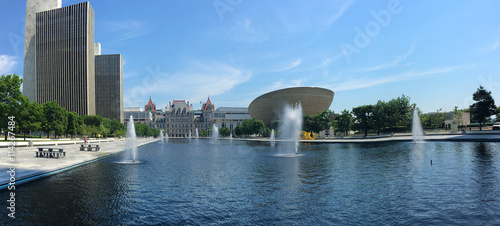 Fotografie, Obraz  Panorama of State government  buildings in Albany, New York