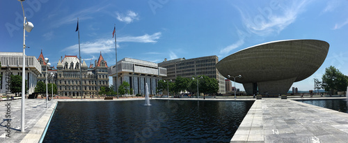 Panoramic view of State government  buildings in Albany, New Yor Billede på lærred