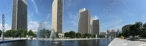Fotografering Panorama of State legislature building in Albany, New York
