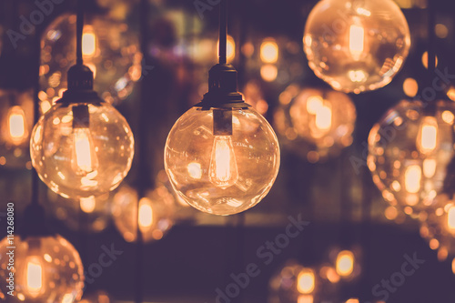Slika na platnu Retro edison light bulb decor