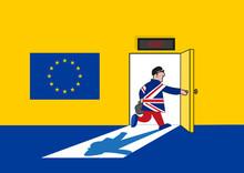 Brexit Concept. Man In British...