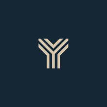 Unusual Geometric Letter Y. Architecture Vector Logo. Isolated Monogram.