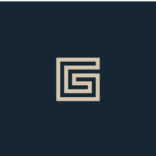 Unusual Geometric Letter G. Architecture Vector Logo. Isolated Monogram.