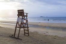 Lifeguard Chair On The Beach