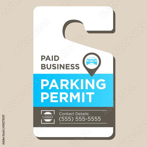 Fotografía  Paid Business Parking Permit