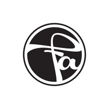 Initial Letter Logo Circle With Ring Fa
