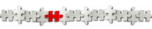 Puzzle Teile Elemente Reihe Rot Band Banner