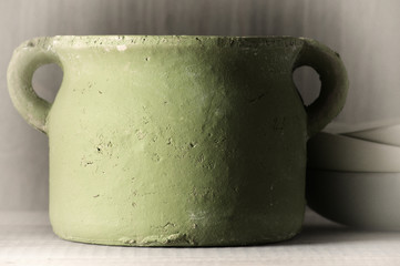 Handmade ceramic pot