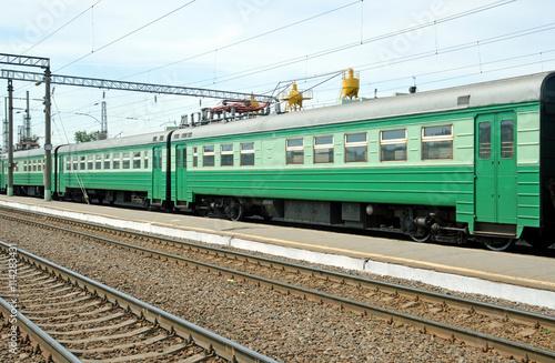 Fotografie, Obraz  Вагоны пригородной электрички стоят на станции