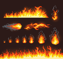 Collection Of Vector Fire Illu...