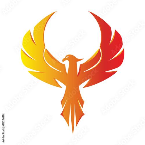Fototapeta premium Phoenix Eagle Logo 3D