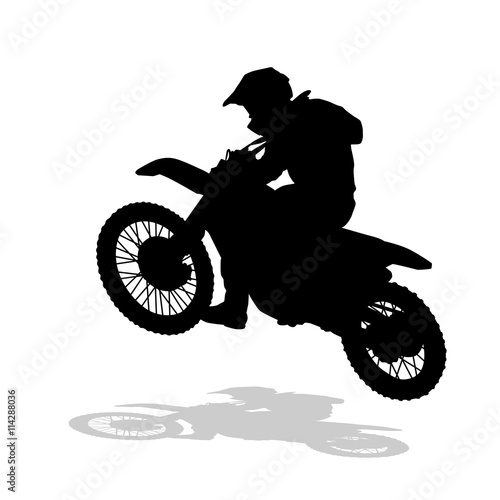 Motocross Vector Silhouette Motocross Jump Moto Racing Buy This