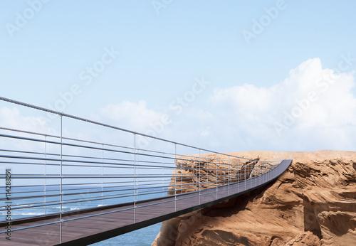 Canvas Prints Bridge Business risk and success