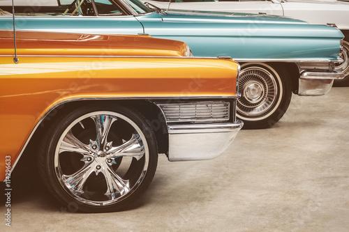 Keuken foto achterwand Vintage cars Retro styled image of vintage American cars