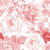 Kwiatowy wzór vintage - 114299636