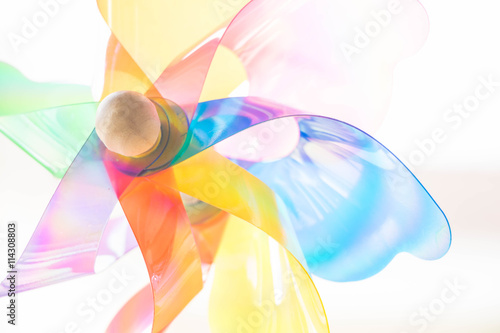 Fotografia, Obraz  The colorfully Pinwheel Power toy on white Background