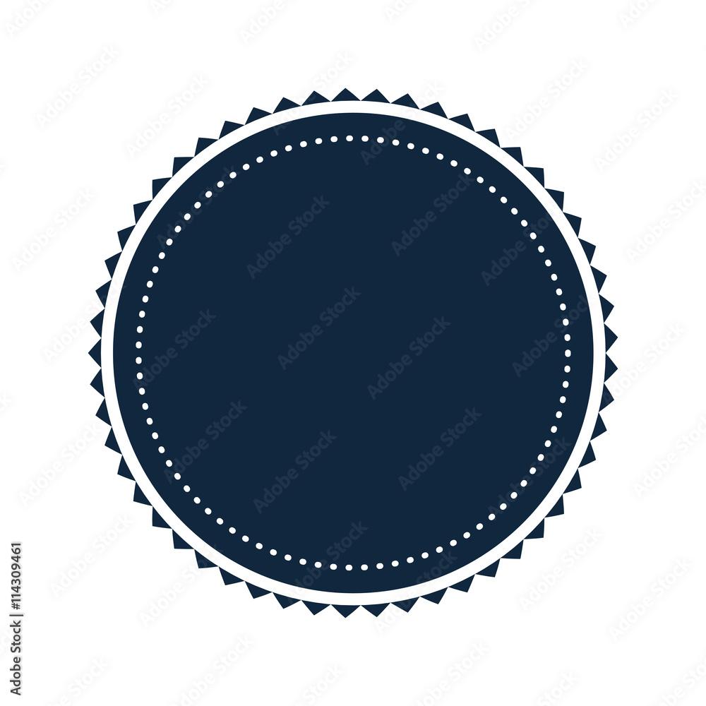Fototapety, obrazy: round badge icon