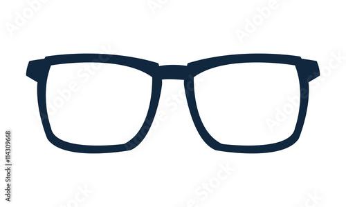 Pinturas sobre lienzo  blue frame glasses icon