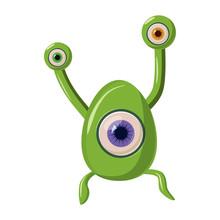 Green One Eye Alien Monster Ic...