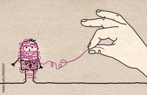 Fotografía  Big hand - untangling