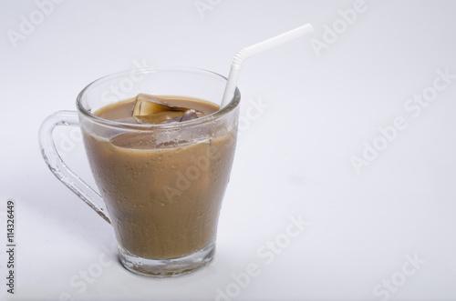 In de dag Milkshake coffee with milk and beans