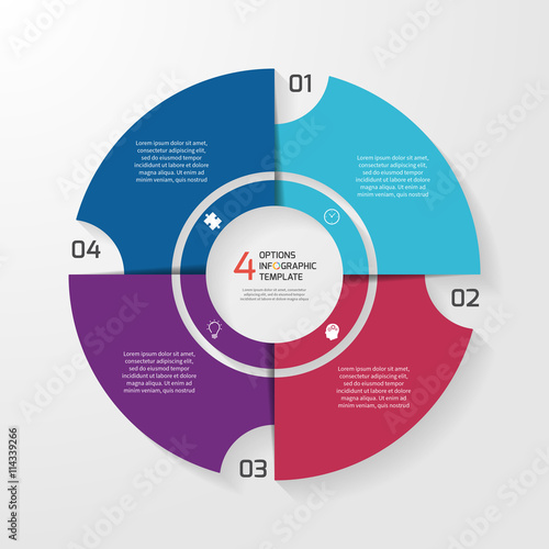 Vector circle infographic template for graphs charts diagrams pie vector circle infographic template for graphs charts diagrams pie chart concept with 4 ccuart Image collections