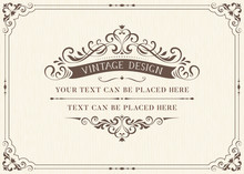 Ornate Vintage Card Design Wit...
