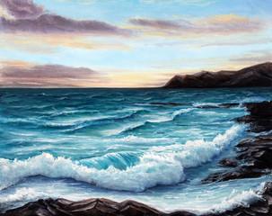 Panel Szklany Marynistyczny Ocean shore