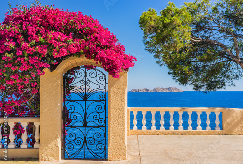 Idyllic view to Mediterranean Sea Coast Canvas Print