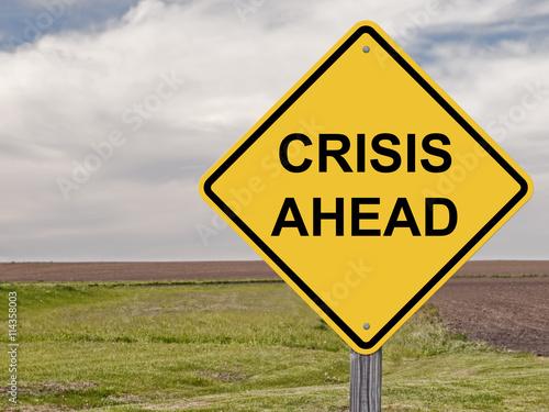 Fotografía  Caution - Crisis Ahead