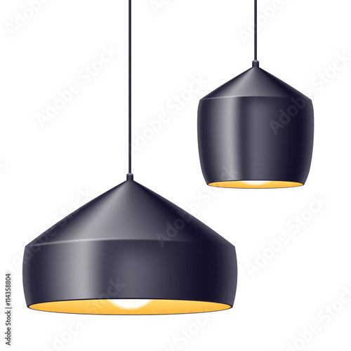 Pendant light lamps vector illustration. - Buy this stock vector and ...