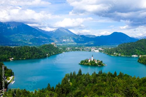 Fototapeta Lake bled view from Ojstrica obraz na płótnie